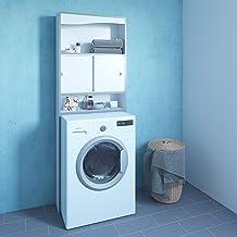 Symbiosis WC-Machine à Laver-Blanc-Chants Gris/6091A7321M17