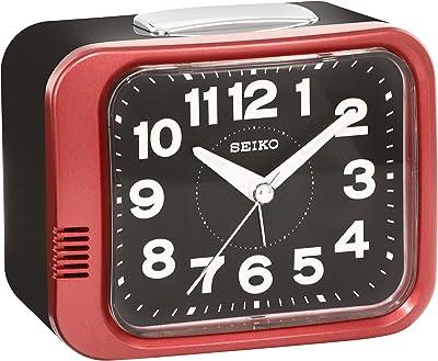 セイコー クロック 目覚まし時計 アナログ 赤 メタリック KR896R SEIKO