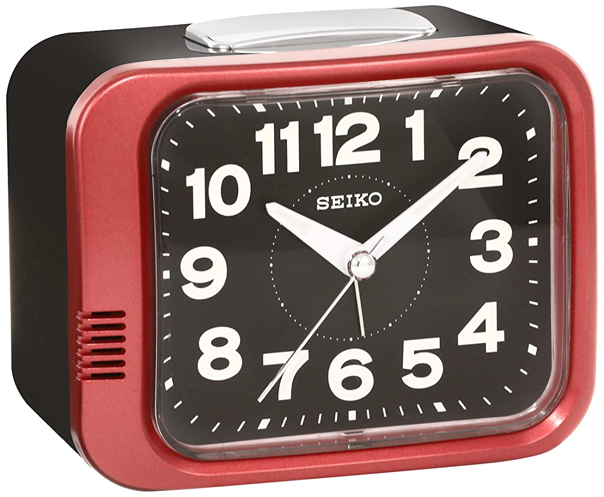 油印刷する竜巻セイコー クロック 目覚まし時計 アナログ 赤 メタリック KR896R SEIKO