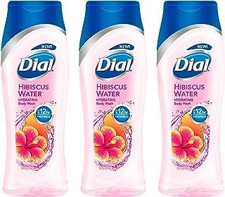 Dial Hydrating Body Wash - Hibiscus Water - Net Wt. 16 FL OZ (473 mL) Per Bottle - Pack of 3 Bottles