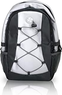 Soft White Sports Cooler Backpack - Small Insulated Leak Proof Bag - Golf Cart Beverage Cooler - Also Ideal for Hiking - Soccer Volleyball and Lacrosse - Top Golf Accessories Must Have