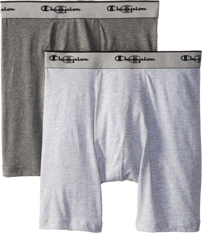 Champion Men's 2-Pack Performance Stretch Long Leg Boxer Brief