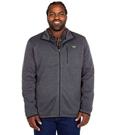 L.L.Bean Sweater Fleece Full Zip Jacket Tall (Charcoal Gray Heather) Men