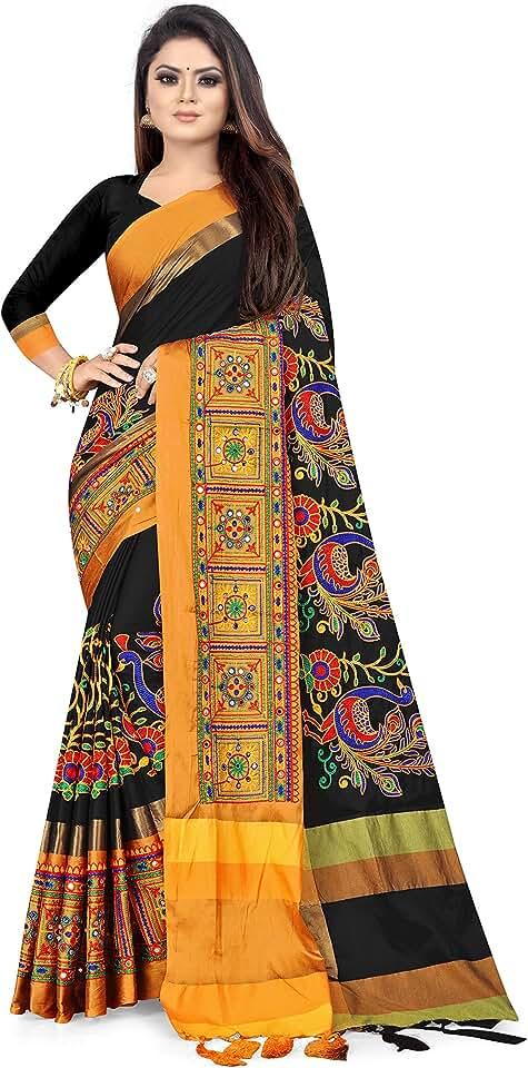 Indian arriva fab Women's Cotton Silk Saree Saree