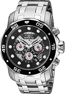 Invicta Men's Pro Diver Quartz Diving Watch with Stainless-Steel Strap, Silver, 1 (Model: 25331)