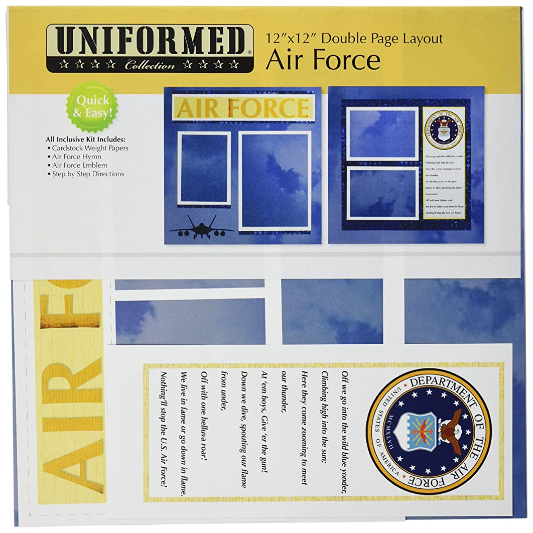 UNIFORMED U.S. Air Force 2 Page Layout Kit