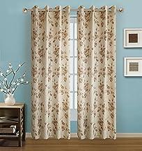 لوحة ستائر نافذة الحمام الرائجة، مجموعة أرابيل، 137.16 سم × 213.36 سم، ذهبي