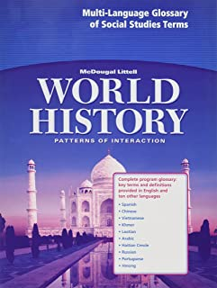 Multi-Language Glossary: McDougal Littell World History: Patterns of Interaction: Complete Program Glossary, Key Terms and Definitions Provided in English and Nine Other Languages