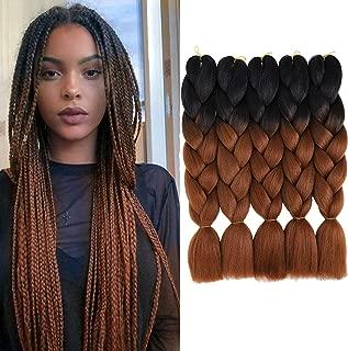 Best black and brown braiding hair Reviews