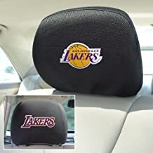 FANMATS  12522  NBA Los Angeles Lakers Polyester Head Rest Cover