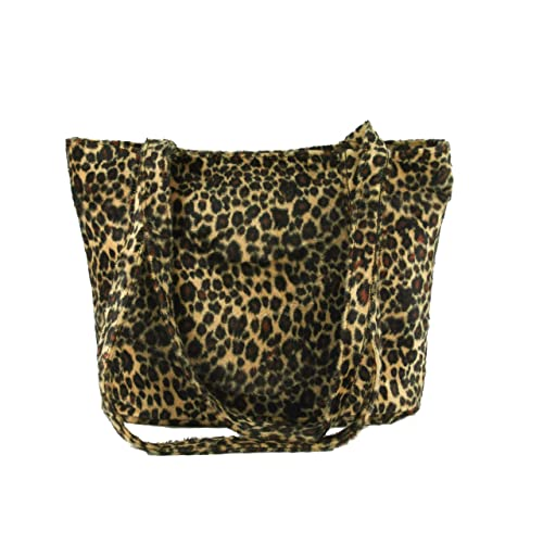 87ec1e4e38c2 Loni Womens Smart Animal Print Faux Fur Tote/Shoulder Bag
