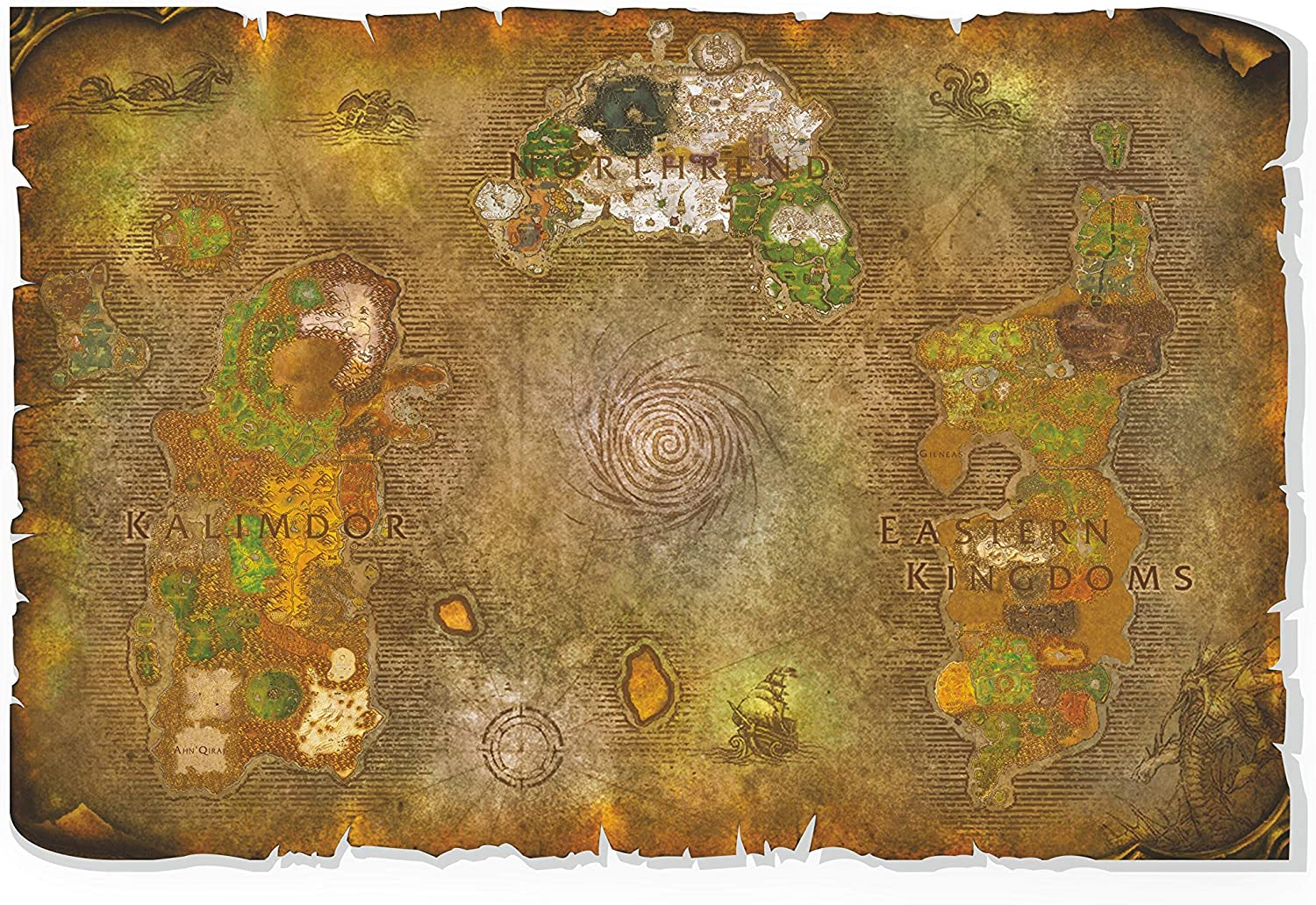 Wrath of Easy-to-use the LichKing Map Scroll TableT service WallArt Canvas