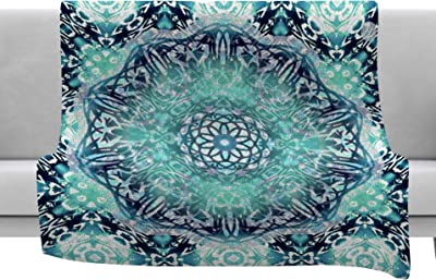 80 by 60 Kess InHouse Julia Grifol Ikat Triangles Multicolor Fleece Throw Blanket