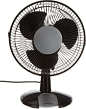 Honeywell HT109E Ventilateur de Table Oscillant Noir/Argent