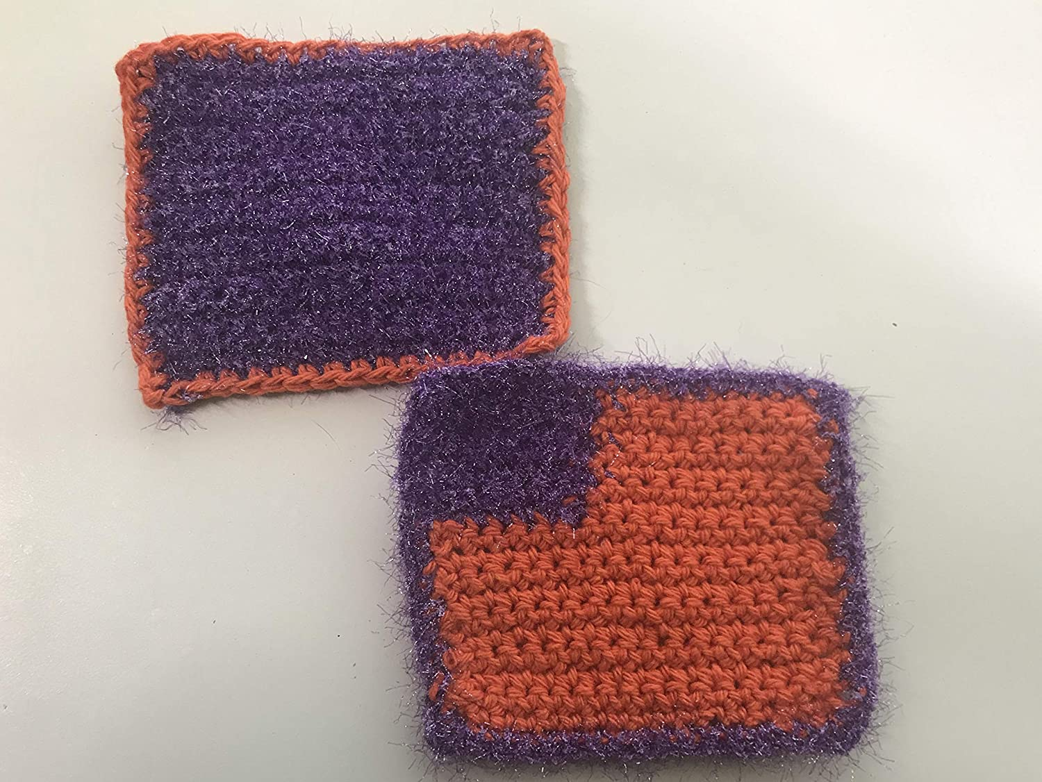 TEAM COLORS - Max 56% OFF Sparkly with Virginia Beach Mall Corner Scrubby Dishcloth