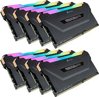 CORSAIR DDR4-3200MHz デスクトップPC用 メモリ VENGEANCE RGB PRO シリーズ 128GB [16GB×8枚] CMW128GX4M8C3200C16