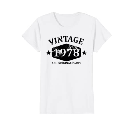 Image Unavailable Not Available For Color Womens Vintage 1978 T Shirt Best 40th Birthday Gift Men