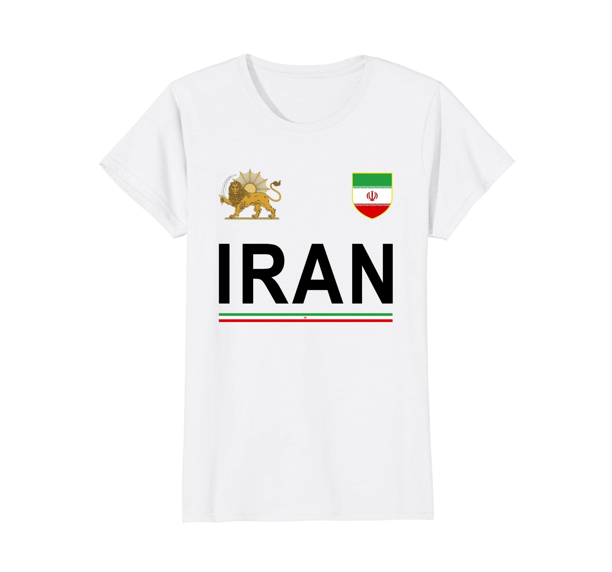 Amazon.com  Iran Cheer Jersey 2018 - Football Iranian T-Shirt  Clothing 4cb0bb324