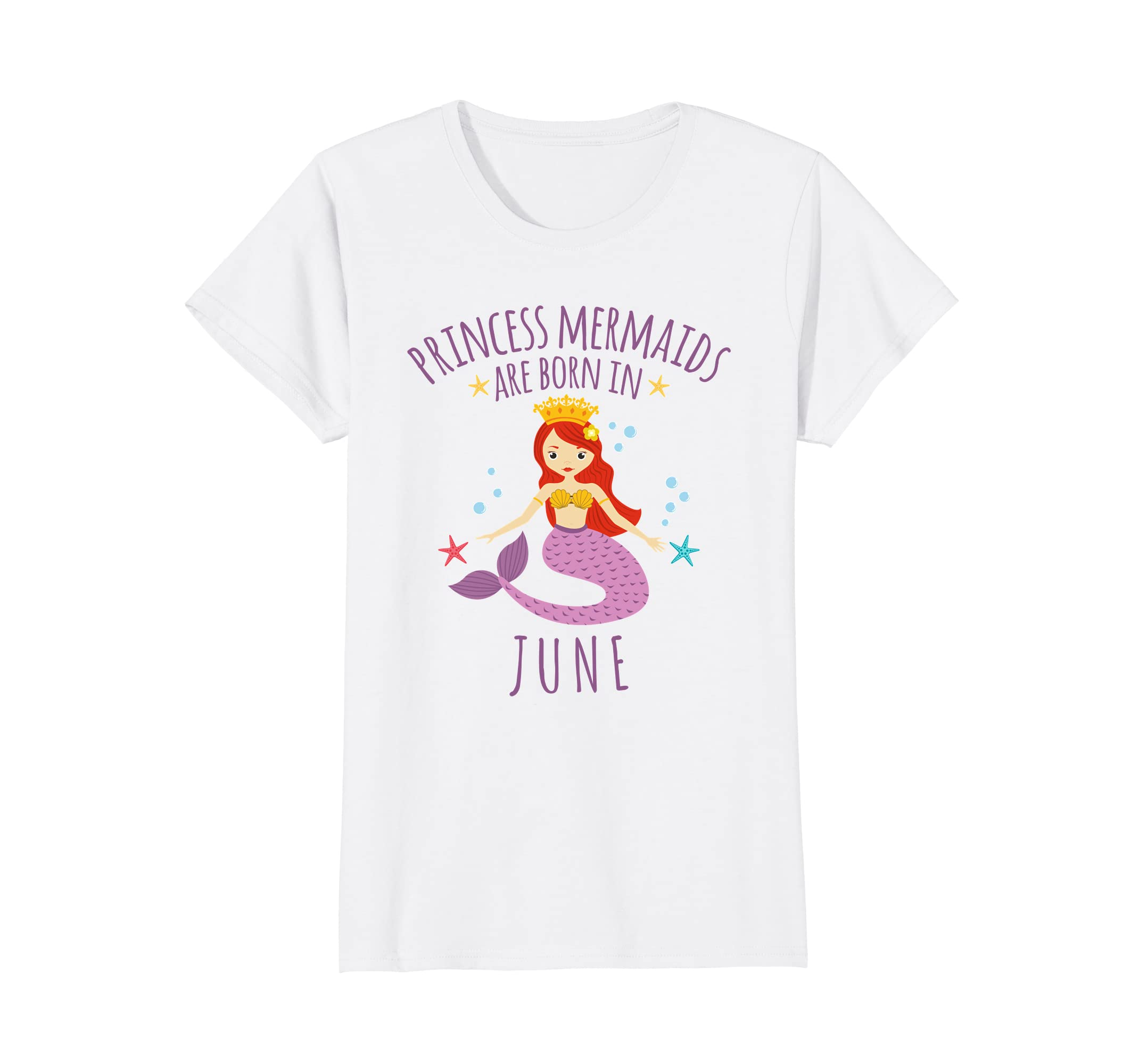 Amazon Princess Mermaids Are Born In June Birthday Shirt Clothing