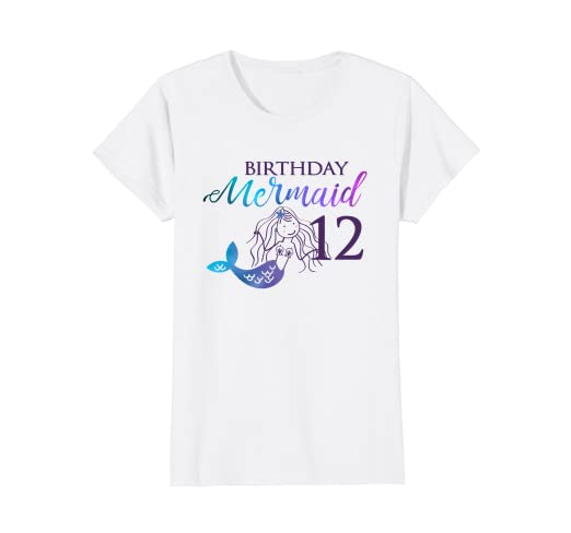 e028581c0730 Image Unavailable. Image not available for. Color: Mermaid Birthday Party  Shirt ...