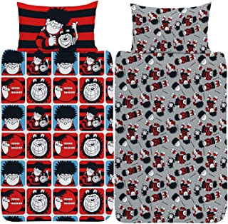 Beano Dennis and Gnasher Rotary Duvet Set (Twin) (Red)