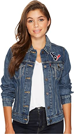 Texans Sport Denim Trucker