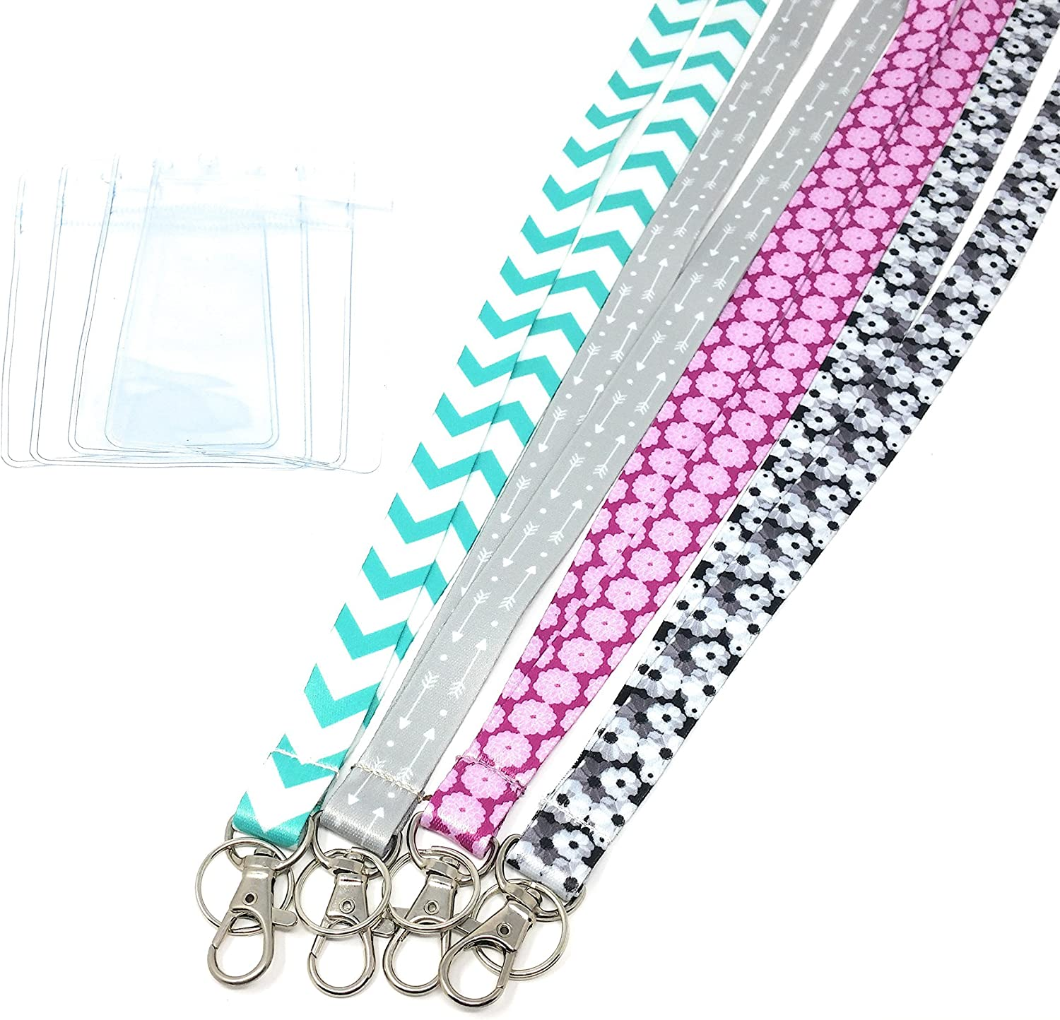 ECOHIP 4-Pack Lanyards for Women Max 52% OFF Cute with Selling rankings ID N Holder Lanyard