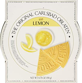 The Original Carlsbad Oblaten 6.75 Oz. Gift Tin, Lemon