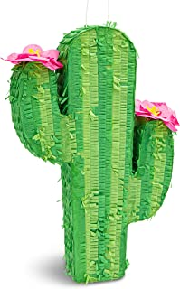 Cactus Pinata for Kids Birthday Party, Cinco De Mayo (17 x 11.5 In)