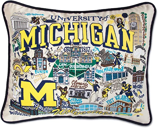 Catstudio University Of Michigan Collegiate Embroidered Decorative Throw Pillow Beautiful Award Winning Home Decor Artwork Great For The Living Family Bed Rooms