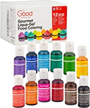 Food Coloring Liqua-Gel 12 PK (9 oz, 264 mL) - 12 Bold Primary Color Kit in .75 fl. oz (22mL) Bottles - For Baking, Decorating, Fondant, Cooking, DIY Slime, Crafts and More
