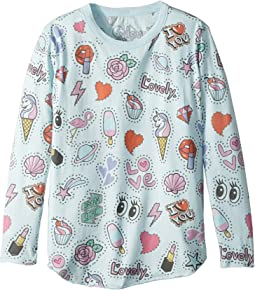 Chaser Kids - Long Sleeve Super Soft Stars & Hearts Tee (Little Kids/Big Kids)