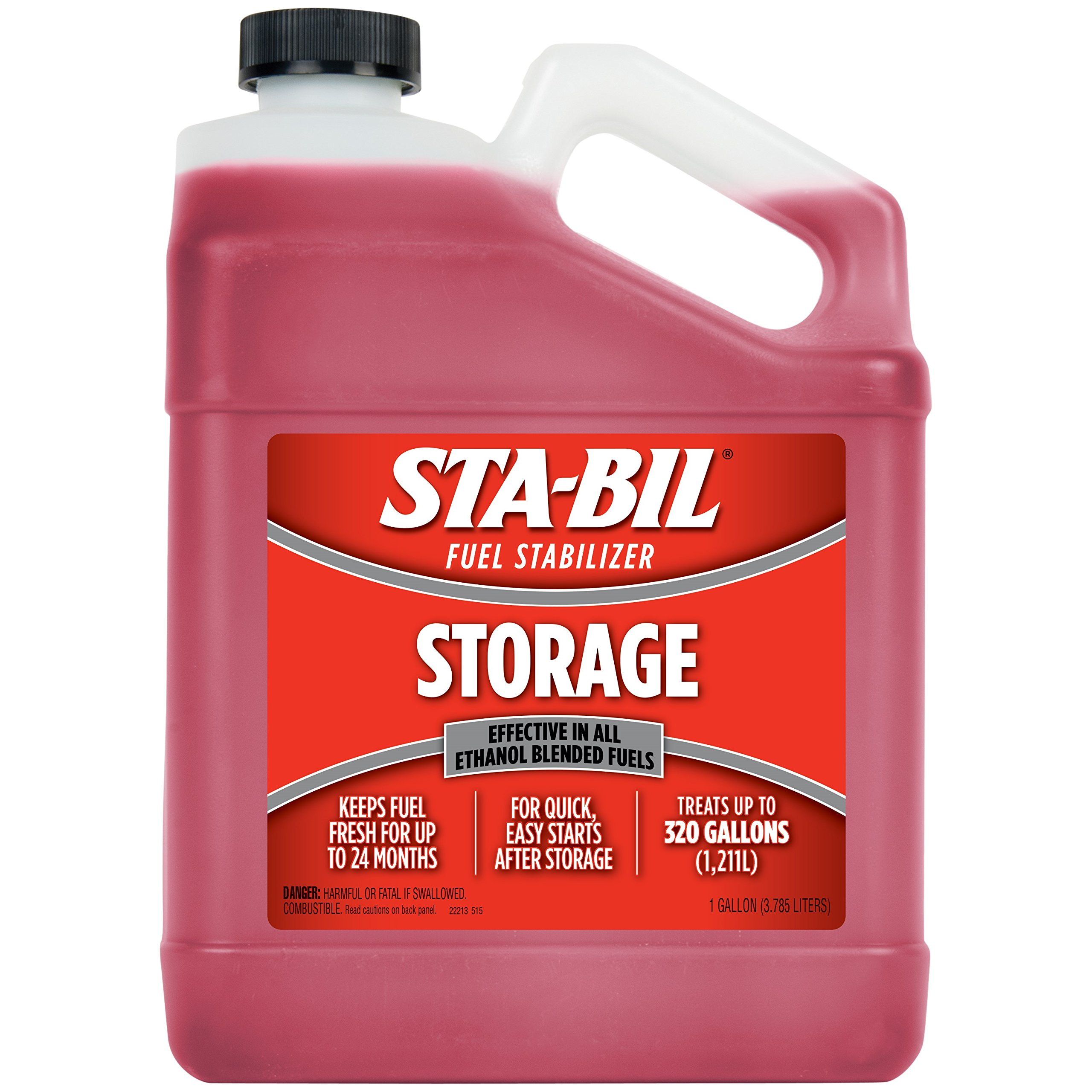 STA-BIL 22213 Fuel Stabilizer, 1 Gallon, Red