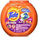 Tide PODS 3 in 1 HE Turbo Laundry Detergent Pacs, Spring Meadow Scent, 57 Count Tub
