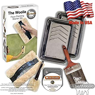 The Woolie Original Full-Sized Faux Painting Beginner Starter Toolkit - 9.75 x 5 inches - 3/4 inch Nap Faux Pack (As seen on YouTube) (KIT)