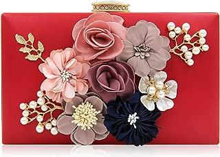 Evening Bag for Women, Flower Wedding Evening Clutch Purse Bride Floral Clutch Bag
