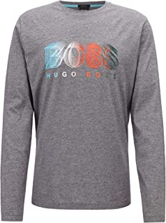 Mens Long-Sleeved T-Shirt with Multi-Coloured Logo Graphic Togn 1