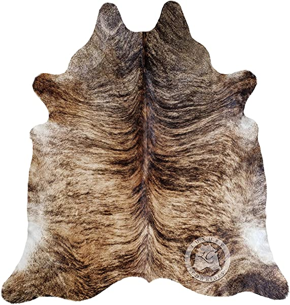 Brindle Cowhide Rug Approx Size 6ft X 8 Ft 180cm X 240 Cm