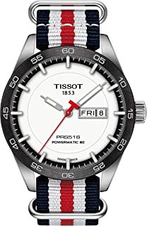 mens PRS 516 Stainless Steel Casual Watch White,Red,Blue T1004301701100