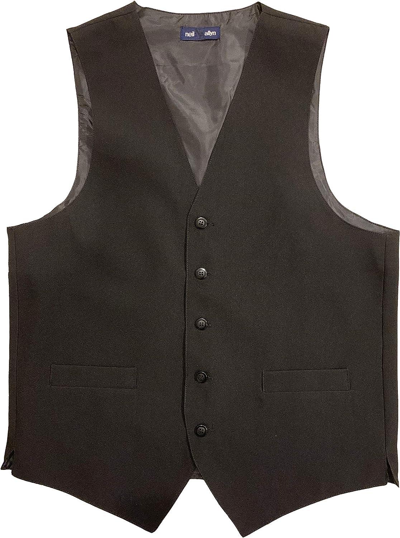 Neil Allyn 100% Polyester Solid Black Wait Vest Large Staff - Special sale Super Special SALE held item
