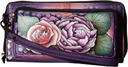 Anuschka Handbags - 1111 RFID Blocking Zip-Around Clutch Wallet