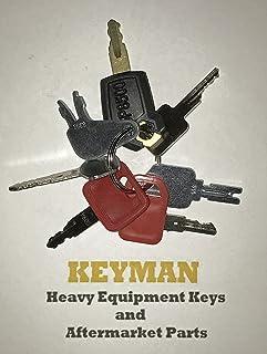 Keyman 7 Heavy Equipment Construction Ignition Keys Set