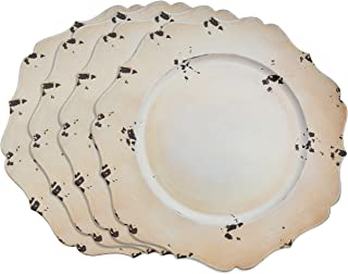 SARO LIFESTYLE Bertha Collection Pointed Leaf Plastic Charger Plate, 13