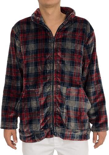 Guasch Veste de Pyjama voitureolina écossais