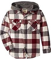 Lucky Brand Kids - Long Sleeve Flannel Shirt w/ Hood (Little Kids/Big Kids)