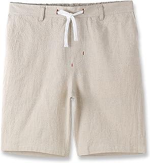 Estepoba Mens Casual Comfy Soft Linen Cotton Drawstring Active Sport Walk Short