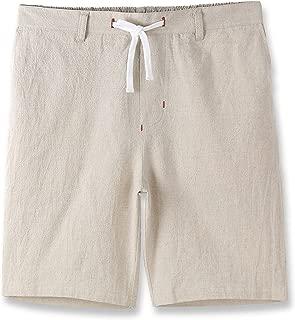 Mens Casual Comfy Soft Linen Cotton Drawstring Active Sport Walk Short