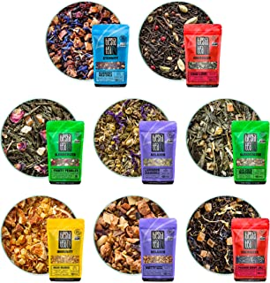 Tiesta Tea - Tiesta's Top 8 Loose Leaf Tea Sampler, High to No Caffeine, Hot & Iced Tea, Sample Pack with Green, Herbal, B...