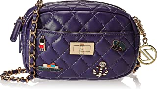 Zeneve London Womens Crossbody Bag, Purple - 1191830491