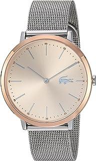 Lacoste Moon Ultra Slim - Reloj casual de cuarzo para mujer, color plateado y dorado y acero inoxidable, color plateado (modelo: 2001002)